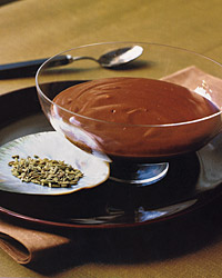 Chocolate Fennel Pudding
