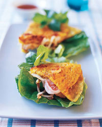 Crispy Vietnamese Crêpes with Shrimp, Pork and Bean Sprouts