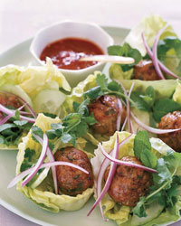 Joyce's Vietnamese Chicken Meatballs in Lettuce Wraps