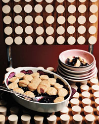 Blueberry Cobbler with Honey Biscuits
