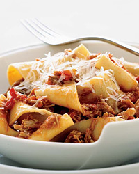 Pappardelle with Milk-Roasted Baby Goat Ragù