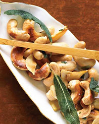 Cashews with Crispy Sage and Garlic