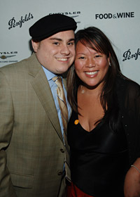 Top Chef contestants Miguel Morales and Lee Anne Wong.