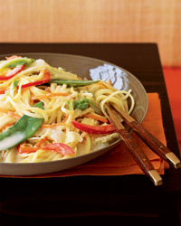 Vegetarian Red Curry Noodles