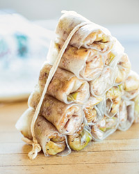 Crispy Pork, Shrimp and Cabbage Imperial Rolls