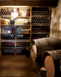 Culinary Caves founder Zdravko Terziev's wine cellar.