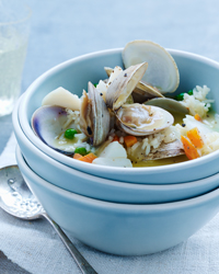 Cod-and-Clam Avgolemono Stew