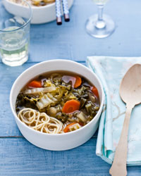Asian Vegetable Soup with Noodles
