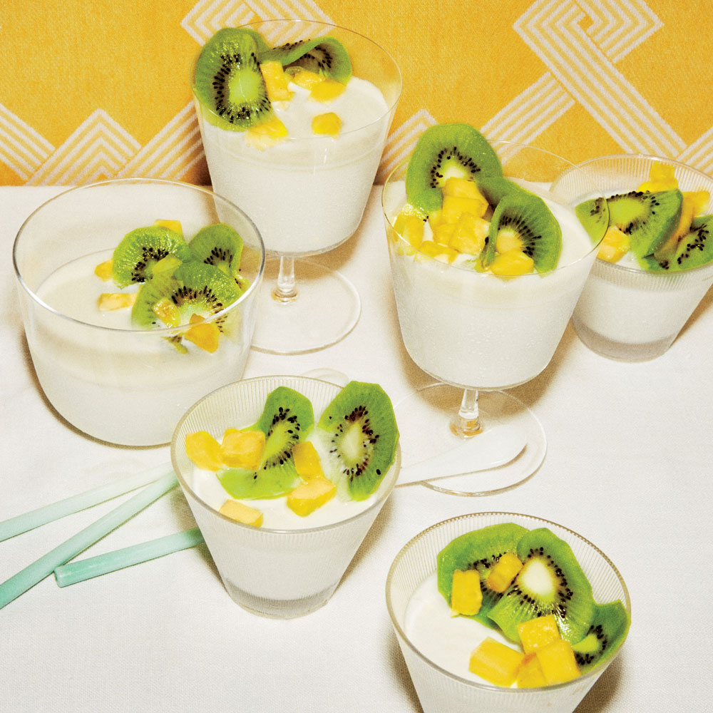Panna Cotta with Tropical Fruit