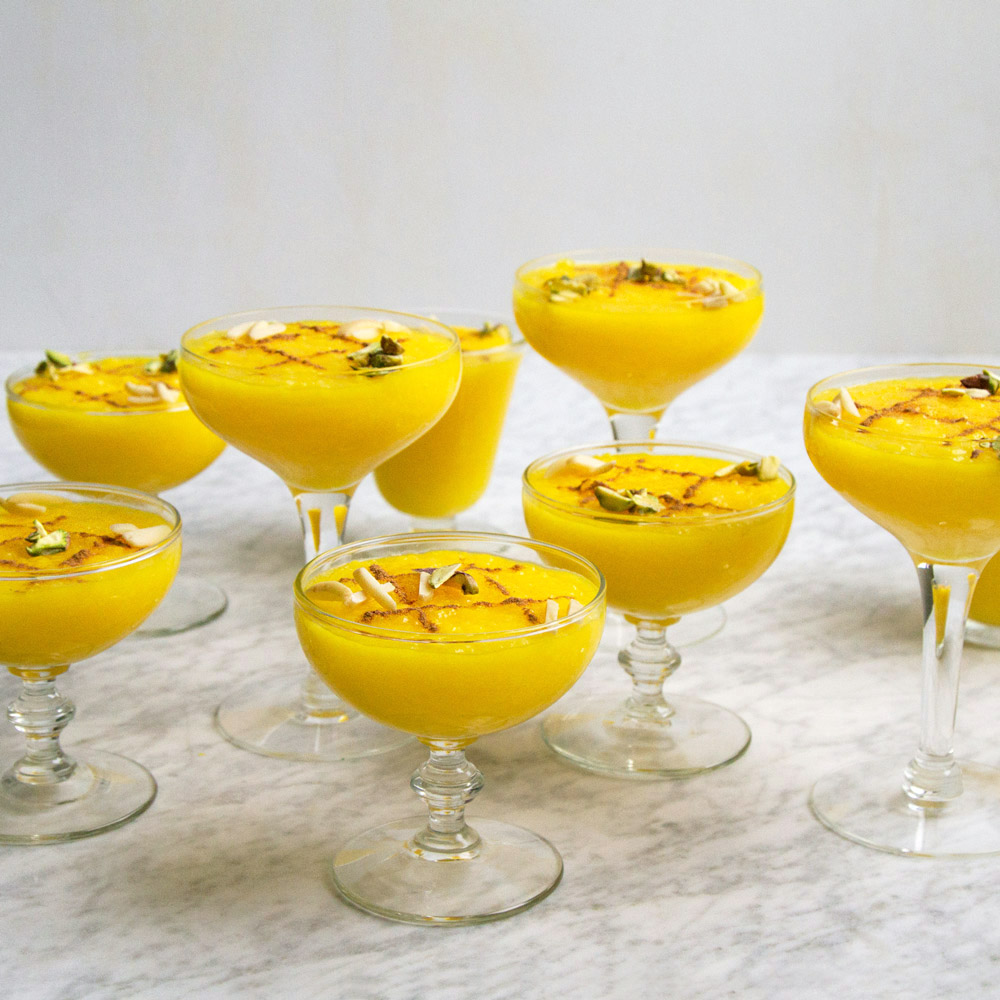 Saffron Rice Pudding (Sholeh Zard)
