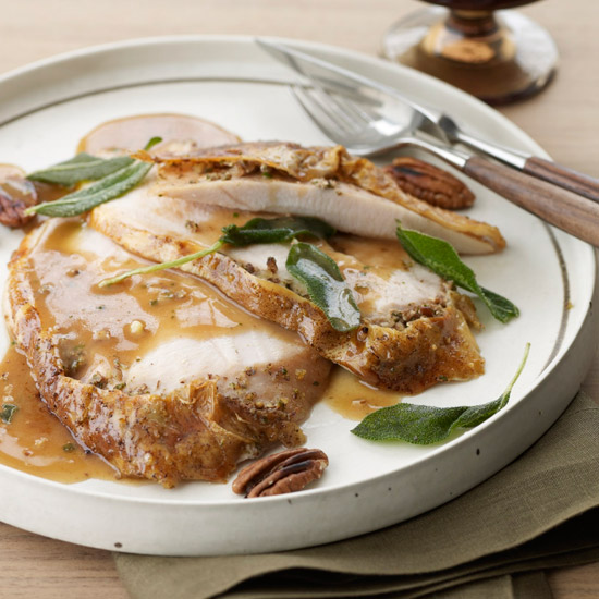 Roast Turkey with Fried Sage and Pecans