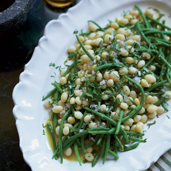 Haricots Verts and White Beans with Shallot Vinaigrette