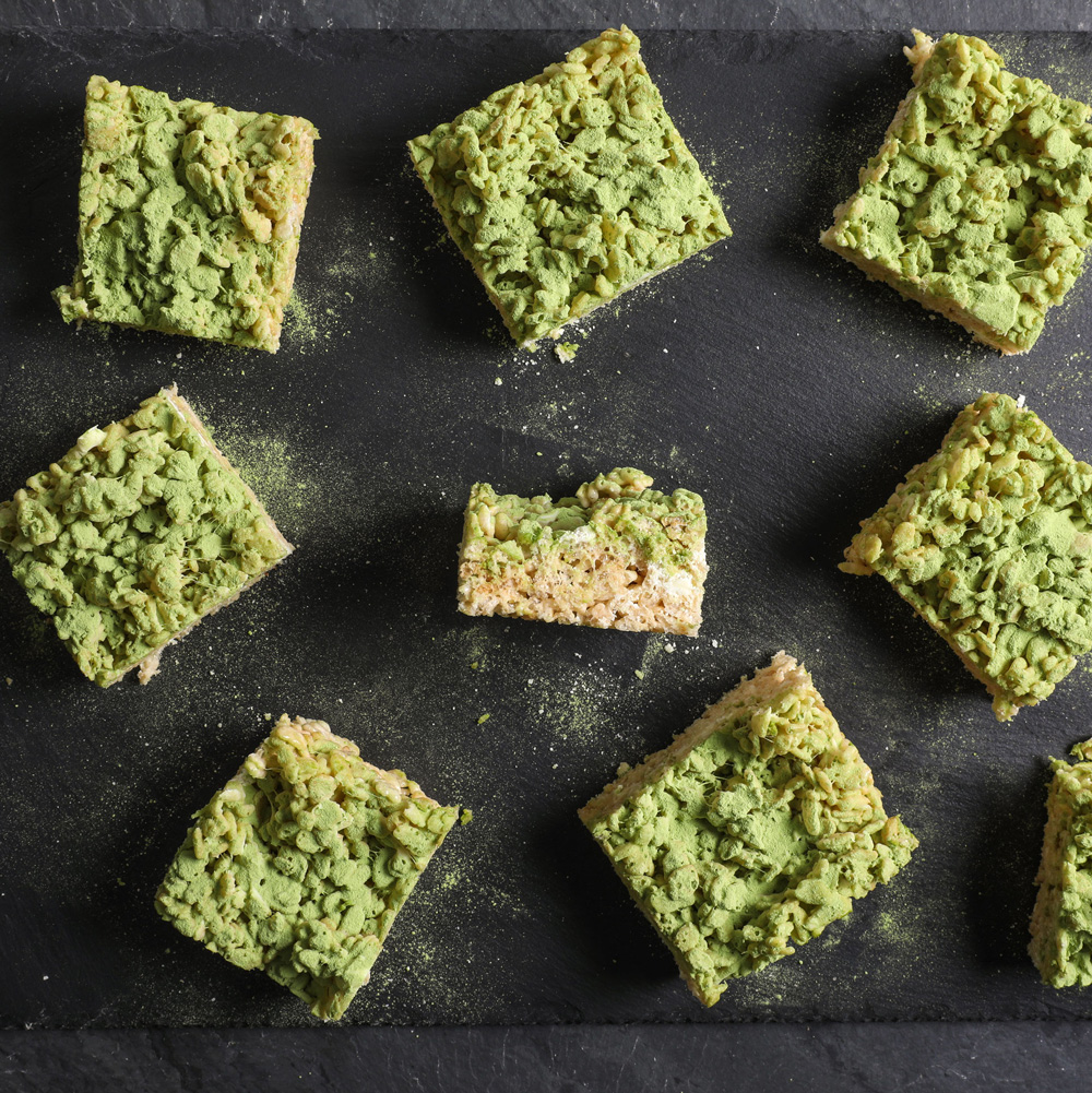 Matcha Tea Marshmallow Crispy Treats