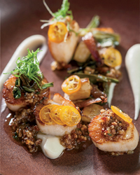 Sea Scallops with Bacon Jam at Andrew Carmellini's The Dutch