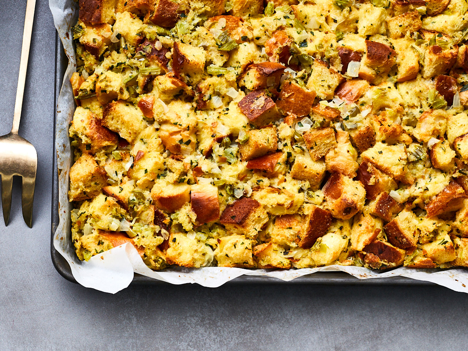 Sweet Onion Challah Stuffing Recipe