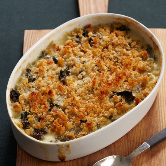 Creamy Swiss Chard with Crisp Bread Crumbs