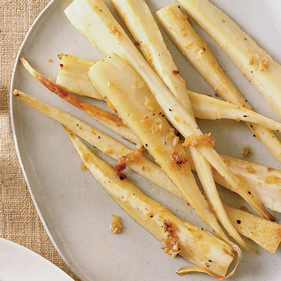 Ginger-Roasted Parsnips