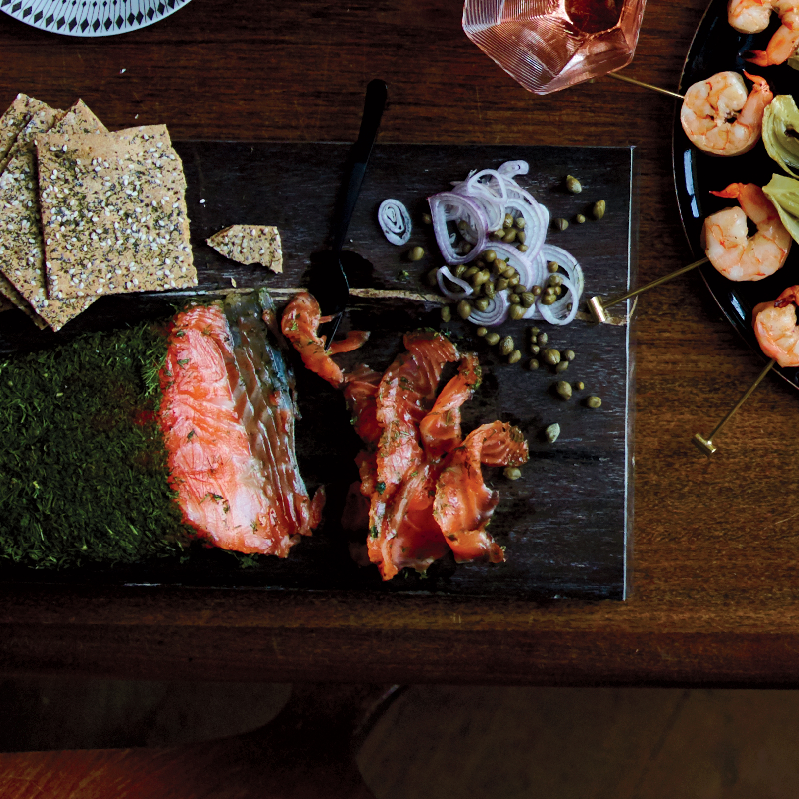 Pink Peppercorn and Fennel Gravlax