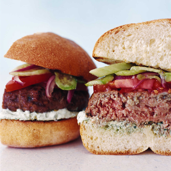 Lamb Burgers with Cilantro-Yogurt Sauce