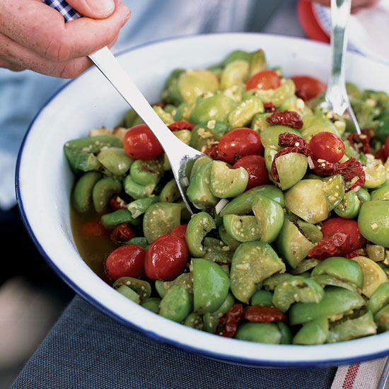 Tangy Tomatillo Salad with Sun-Dried Tomatoes
