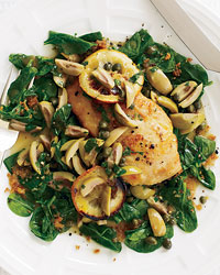 Sautéed Chicken with Olives, Capers and Roasted Lemons