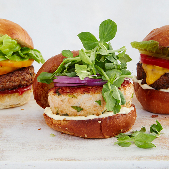 Green Goddess Turkey Burgers