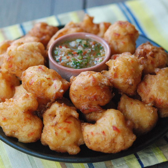 Trinidad Salt Cod Fritters with Pepper Sauce