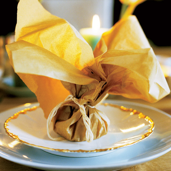 Tea-Steamed Cod Baked In Paper