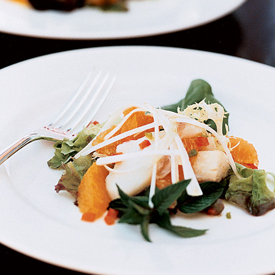 Warm Cured-Cod Salad with Orange and Basil