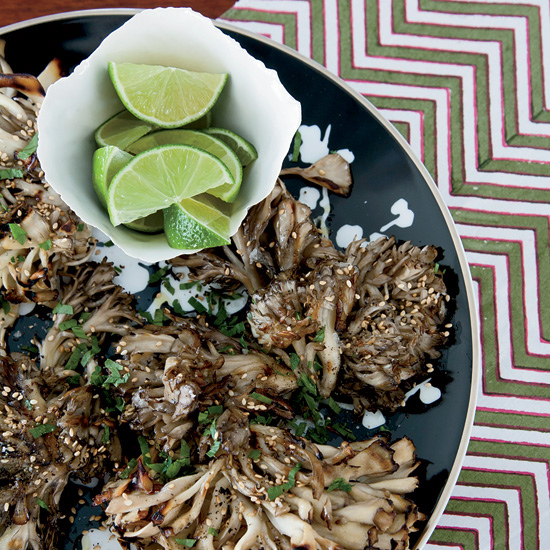 Grilled Hen-of-the-Woods Mushrooms with Sesame