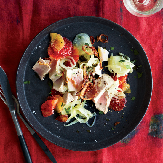 Oil-Poached Tuna with Fennel and Orange