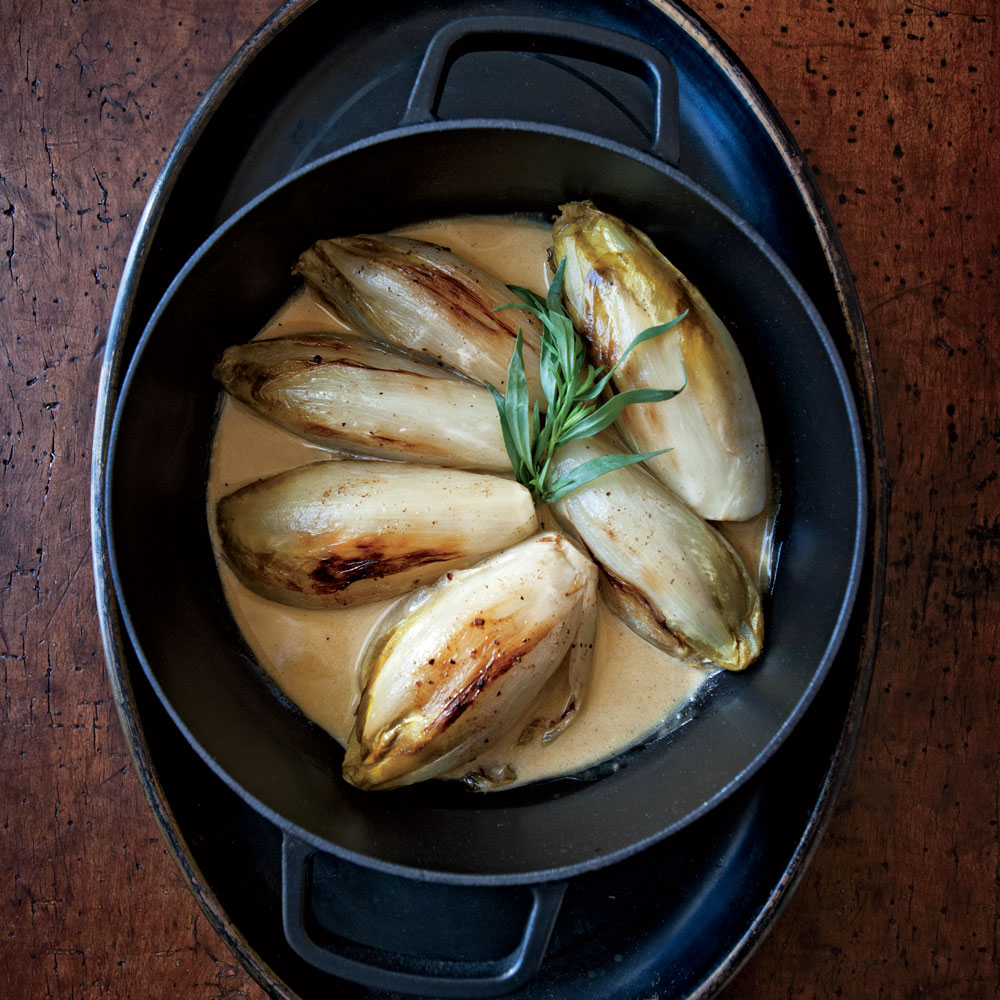 Braised Endive in Cream Sauce