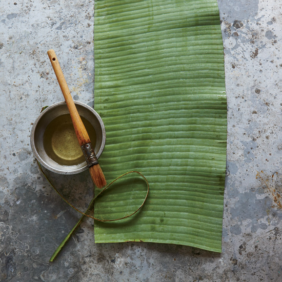 Banana Leaf Wraps: Cut