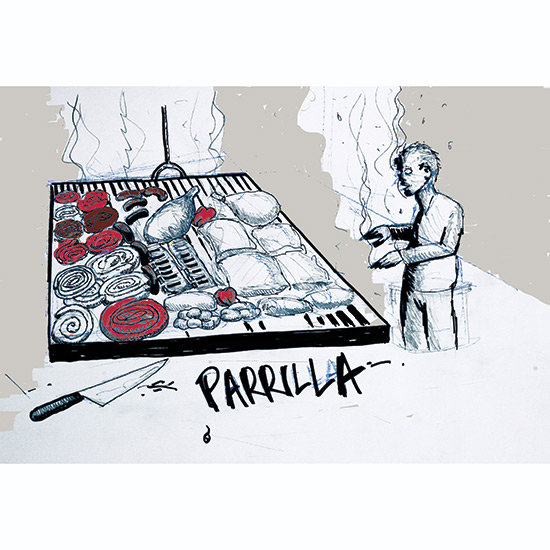 Anthony Bourdain Illustrates Grilling Icons: Parrilla Excellence