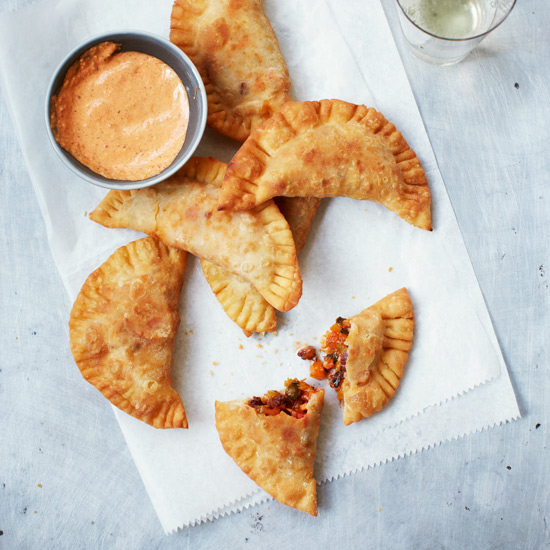 Octopus Turnovers with Spicy Creole Mayonnaise