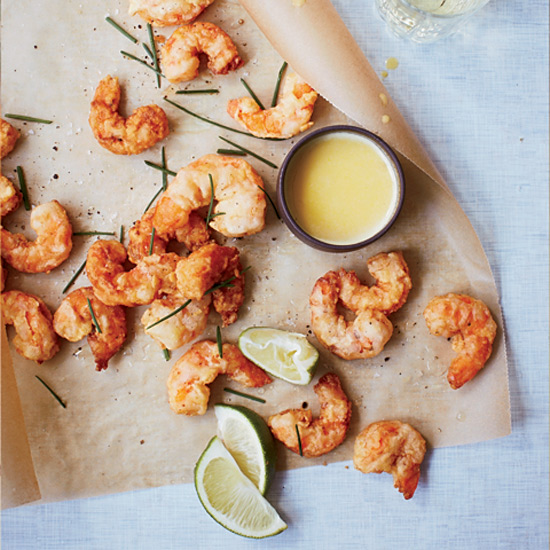 Popcorn Shrimp with Corn Butter