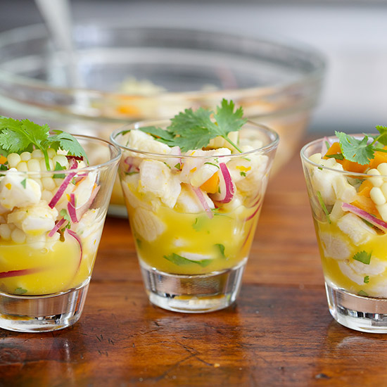Day 30: Ceviche with Corn and Sweet Potatoes