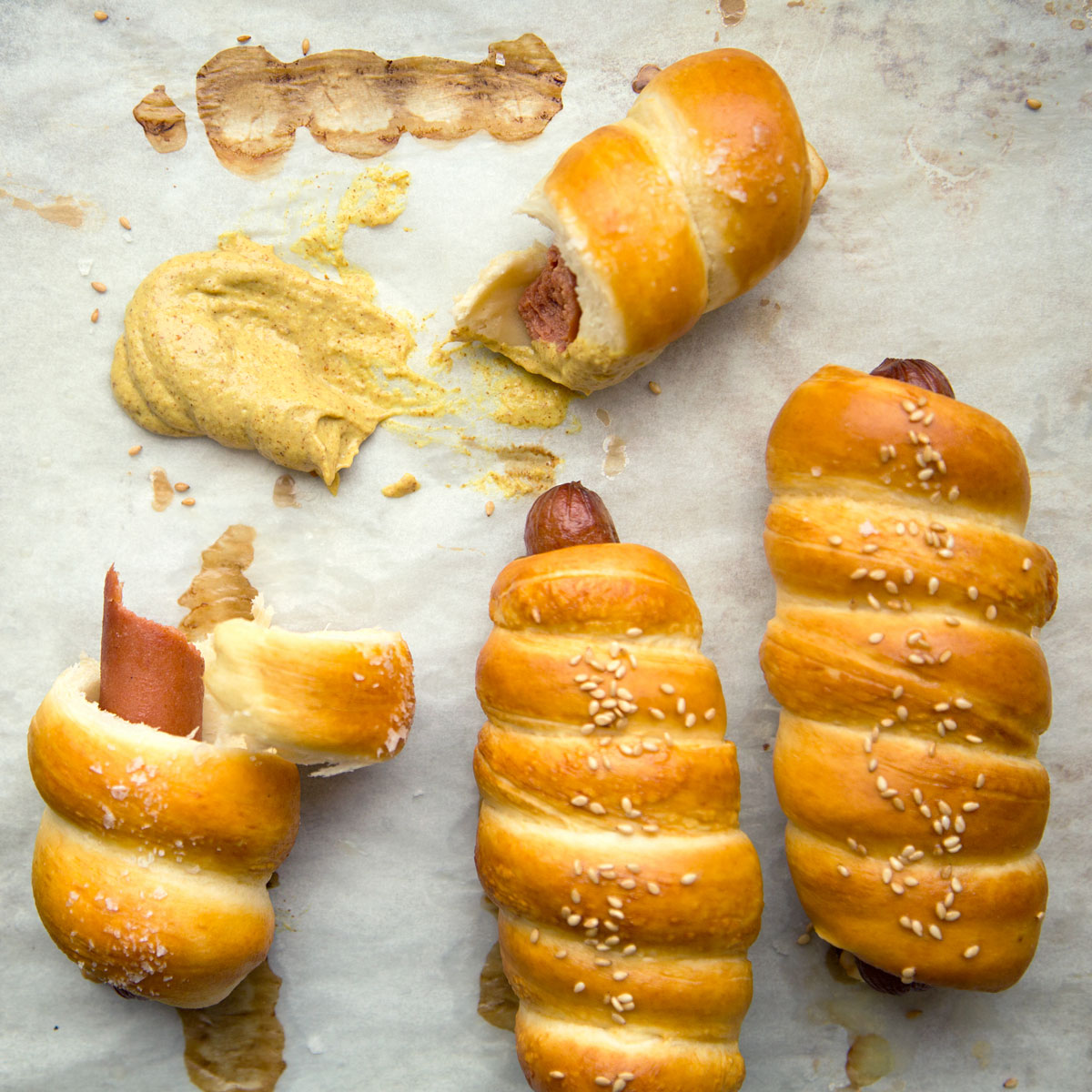 Pretzel Hot Dogs