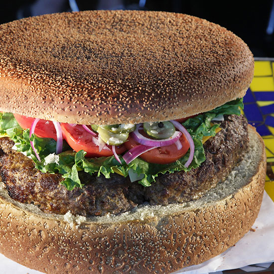 Crazy Over-the-Top Burger Topping: The 9 Pounder