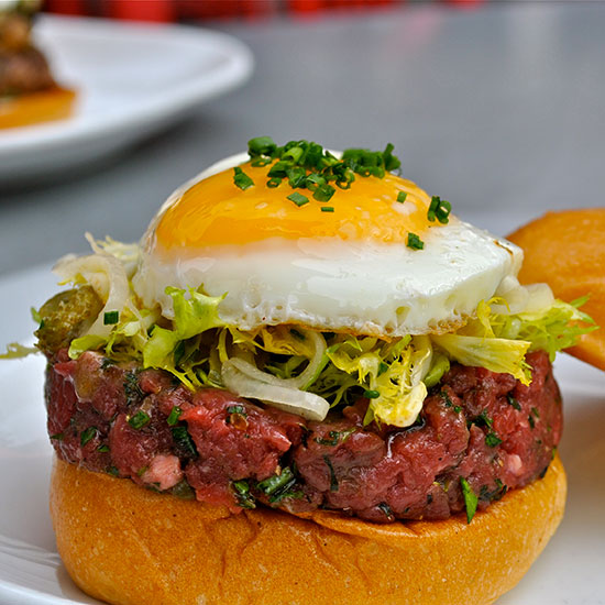 Crazy Over-the-Top Burger Topping: Steak Tartare Burger