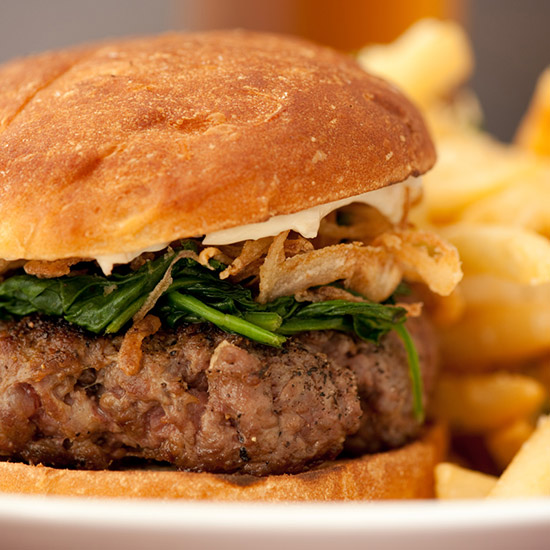 Crazy Over-the-Top Burger Topping: 40 Day Dry Aged Prime Steak Burger