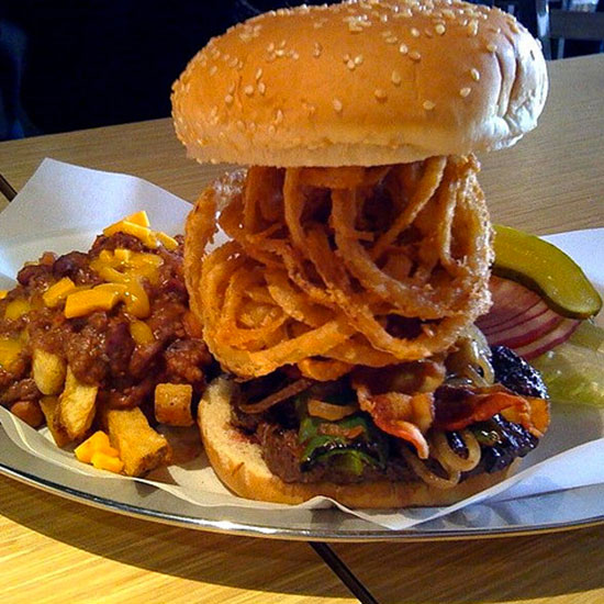 Crazy Over-the-Top Burger Topping: The Rave Burger