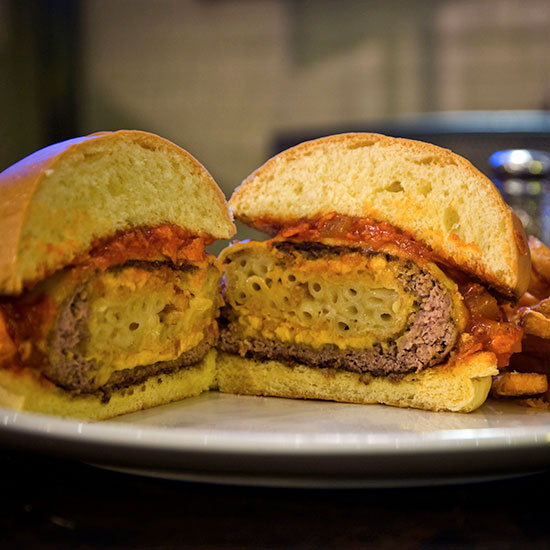 Crazy Over-the-Top Burger Topping: Southern Comfort Burger