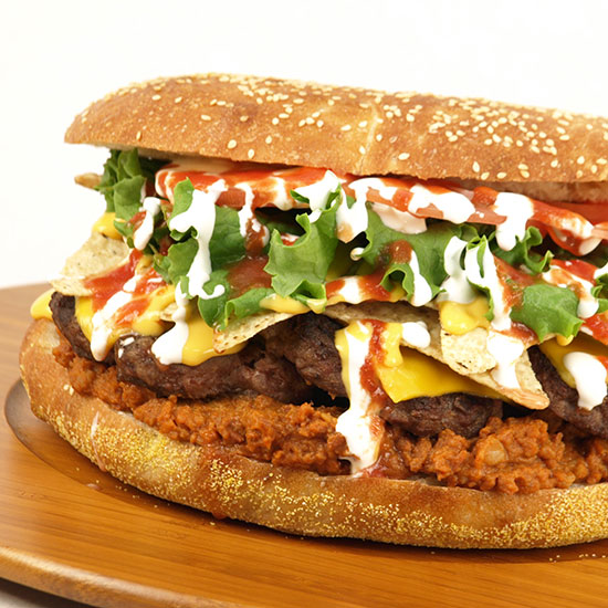 Crazy Over-the-Top Burger Topping: The Fifth Third Burger