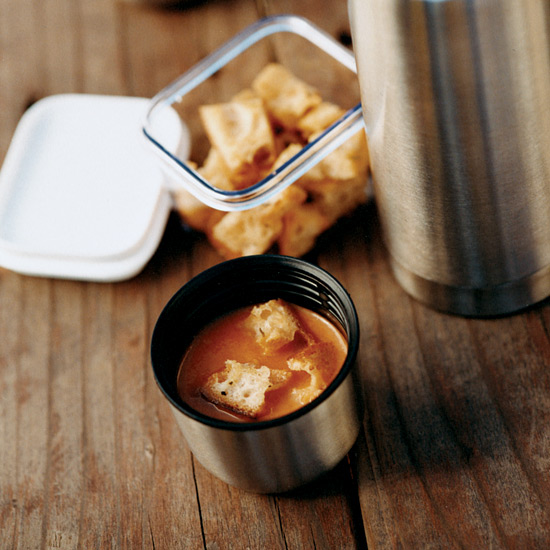 Lunch Recipe: Tangy Tomato Soup With Tarragon Croutons