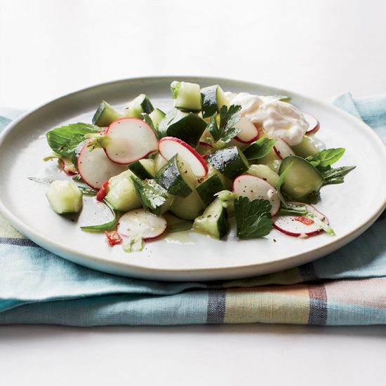 Cucumber-and-Radish Salad with Burrata