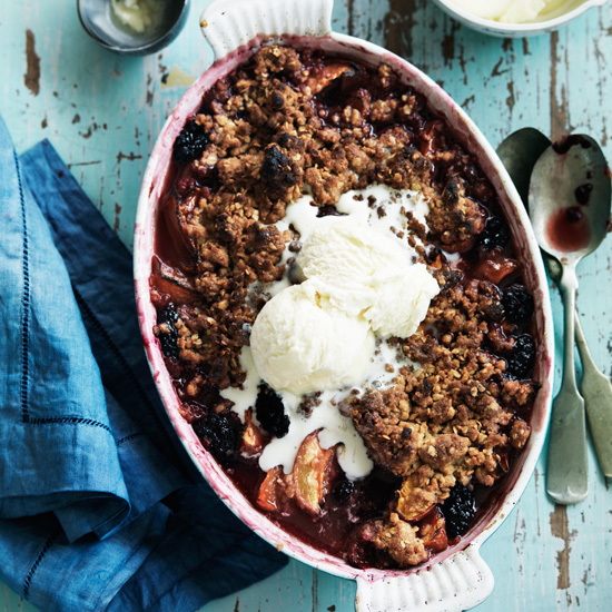 Peach and Blackberry Crisp
