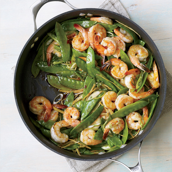 Gingered Stir-Fry with Shrimp and Snow Peas. Photo © Antonis Achilleos
