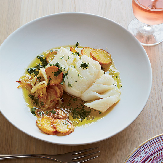 Cod with Potatoes and Salsa Verde