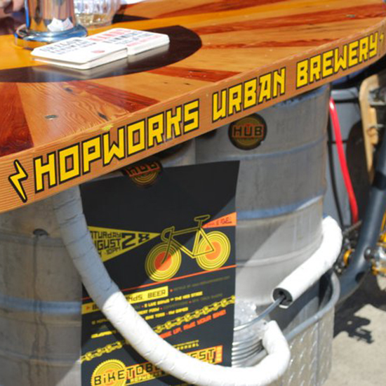 Bike Food Carts: Hopworks BarBike; Portland